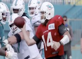 No-look pass alert: FitzMagic has tricks on point at Fins camp