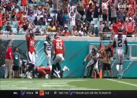 Noah Fant eludes two Jaguars for 14-yard TD catch and run