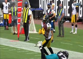 Diontae Johnson's terrific bobbling grab gives Steelers a first-and-goal