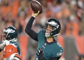 Foles floats it to a wide open Gibson for 21 yards