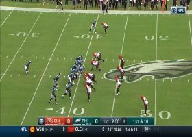 Sliding for the first! Zach Ertz looks like baseball player on 7-yard grab