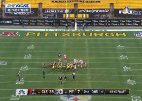 Chris Boswell sends Steelers into halftime with 49-yard FG