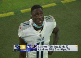 A.J. Brown breaks down Titans' OT win over Ravens