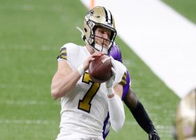 Drew Brees hits Taysom Hill for impressive sideline connection