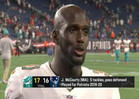 Jason McCourty reacts getting win vs. Patriots and brother Devin McCourty