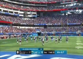 Herbert's 12-yard strike to Keenan Allen moves chains on fourth down