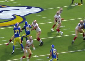 Aaron Donald bats ball at LOS for Jordan Fuller's third INT in two games