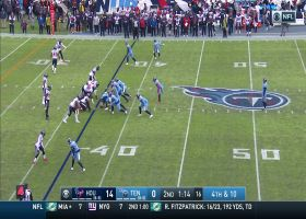 Lonnie Johnson uses every inch of 6-foot-2 frame to deny Titans' fake punt pass