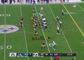 Big Ben zips back-shoulder hole-shot to Diontae Johnson for 23-yard gain