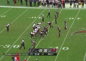 Falcons' outstanding blocking sets up Brian Hill's 62-yard burst