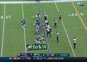 Ravens rip ball from Wentz on read-option run for key turnover