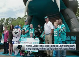 Panthers, Tepper family donate $700k to help finish recreational facility for those with special needs