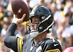 Big Ben stands strong in pocket, connects with Jesse James in stride for 32 yards