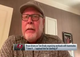 Arians on Brady organizing workouts with teammates: 'I love it'