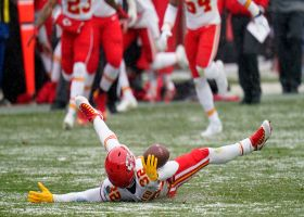 Chiefs' defense celebrates turnover with snow angels
