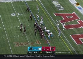 Juston Burris outmaneuvers Russell Gage for end-zone INT