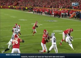 Shady caps Chiefs' drive with walk-in TD around the edge