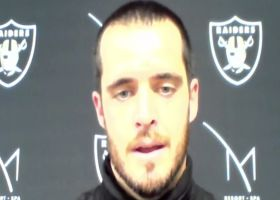 Derek Carr reacts to Raiders' 43-6 loss to the Falcons