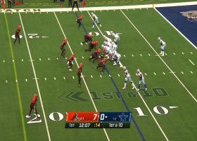 Dalton Schultz turns short play-action pass into 25-yard gain