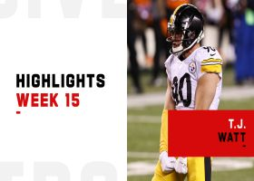 T.J. Watt's most disruptive plays against the Bengals | Week 15
