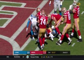 See San Francisco 49ers tight end Garrett Celek push the pile into the endzone from a 360 degree angle   True View