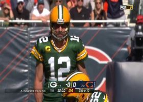 Aaron Rodgers has nowhere to go on Khalil Mack's third-down sack