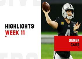 Derek Carr's top throws vs. Chiefs in prime time | Week 11