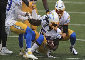 Melvin Ingram reels in Burrow's ill-advised shovel pass for INT
