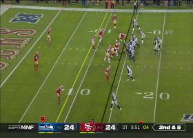 Can't-Miss Play: Greenlaw ends Seahawks' drive with STELLAR red-zone INT