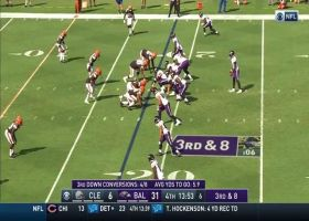 J.K. Dobbins clears the way for Lamar Jackson to zoom down near goal line