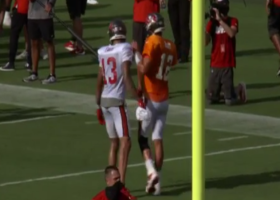 Mic'd Up: Mike Evans talks with Brady during Bucs' preseason scrimmage