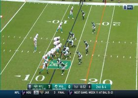 Quinnen Williams blows through Fins' OL to sack Ryan Fitzpatrick