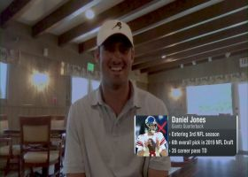 Daniel Jones on building chemistry with new WRs, Saquon Barkley's recovery