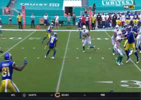 Dolphins' blitz pays off with pressured INT of Jared Goff