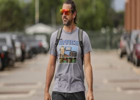 Aaron Rodgers arrives at Lambeau Field for training camp