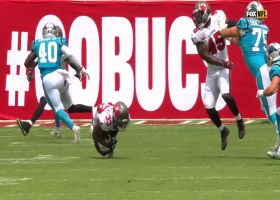 Jordan Whitehead DIVES for difficult INT near red zone