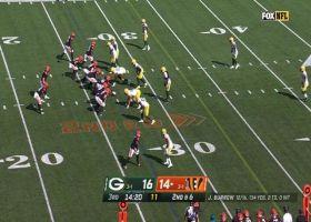 Ja'Marr Chase surpasses 100 yards receiving on 28-yard grab