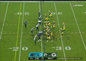 Panthers pounce on Aaron Rodgers for huge sack on third down