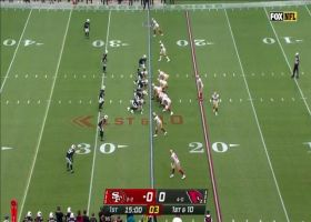 Trey Lance prances outside for 14-yard run on first play