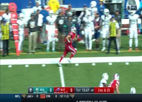 Bills FB turns short throw into HUGE catch and run