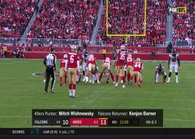 Juszczyk recovers after Dwelley jars ball from Barner with big hit