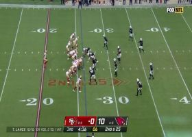 Aiyuk boxes out defender for 26-yard one-handed catch and run