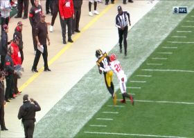 James Washington makes incredible 31-yard toe-drag catch