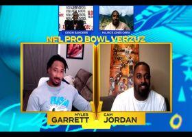 Verzuz: Jeremy Medina, Mark Ingram hype up Myles Garrett, Cam Jordan highlights