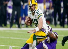 Richardson slings Rodgers down for another sack