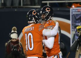 Trubisky lofts perfect two-point conversion pass to Shaheen