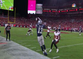Prescott rips dart to toe-tapping Gallup along the sideline