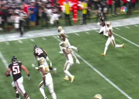 C.J. Gardner-Johnson leaps to halt Falcons' drive with first INT