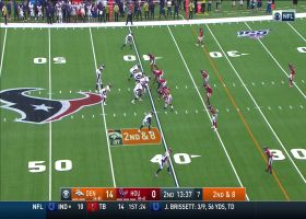 Devontae Booker breaks free for 25 yards on angle route from backfield