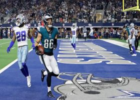 No-huddle offense helps Ertz get wide open for TD toss from Hurts